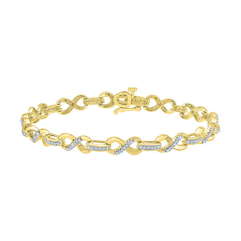 stunning diamond bracelet  in white and yellow gold
