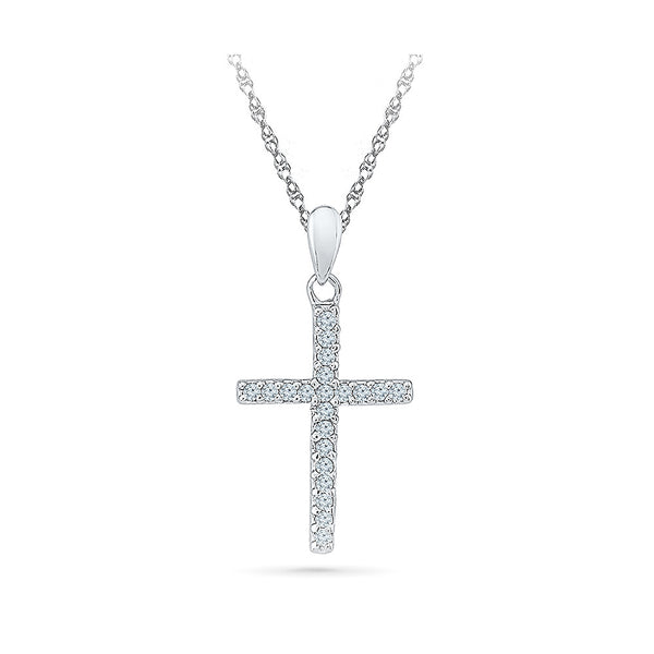 Holy Cross Diamond Pendant in 14k and 18k Gold online for women