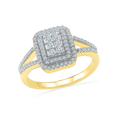 Diamond Square Stellar Cocktail Ring