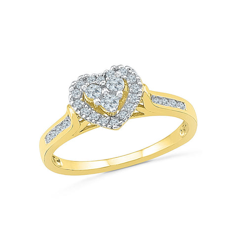 Hearty Diamonds Cocktail Ring