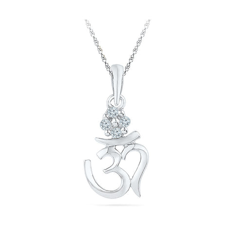 divine om diamond pendant for men and women in gold for women online