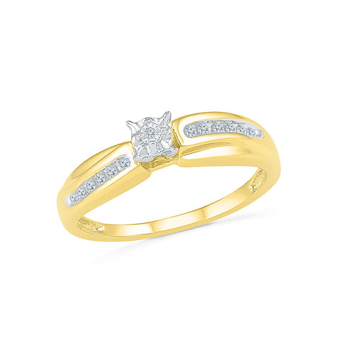 14kt / 18kt white and yellow gold Cheerful Everyday Diamond Ring in MIRACLE and NICK for women online