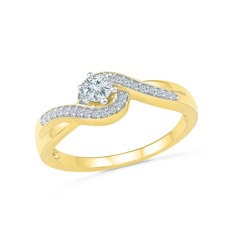 Gold A Class Higher Diamond Engagement Ring In Prong For Women