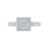 Significant Square Diamond Cocktail Ring