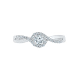 Swirl Promise Diamond Engagement Ring