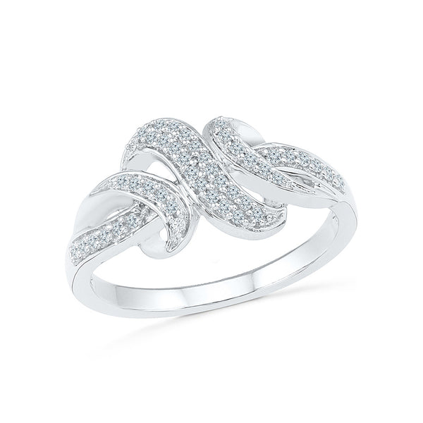 14kt / 18kt white and yellow gold Three Knot Diamond Cocktail Ring in PRONG for women online