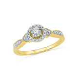 14k, 18k white and yellow gold Together  Forever Diamond Engagement Ring in PRONG and MIRACLE setting for women online