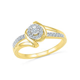 14kt / 18kt white and yellow gold Serious Sparkle Diamond Cocktail Ring for women online in PRONG and MIRACLE setting