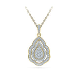 Diamond Detailed Ethnic Pendant