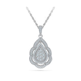 Diamond Detailed Ethnic Pendant in 14k and 18k Gold online for women