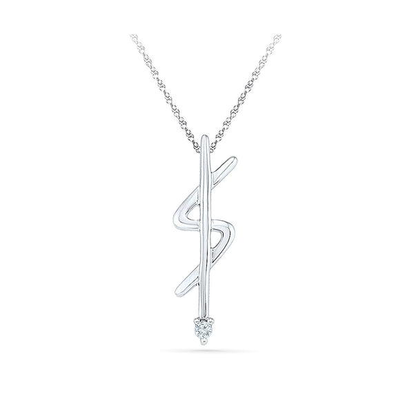 economical one stone diamond pendant in 14k and 18k Gold online for women