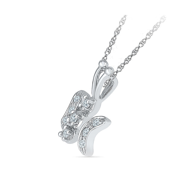 Happy Butterfly Diamond Pendant for kids in gold online