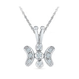 Happy Butterfly Diamond Pendant