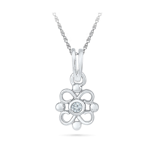 Fling Bling Solitaire Diamond Pendant