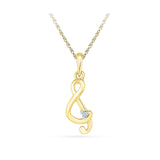 one diamond musical note pendant in 14k and 18k Gold online for women