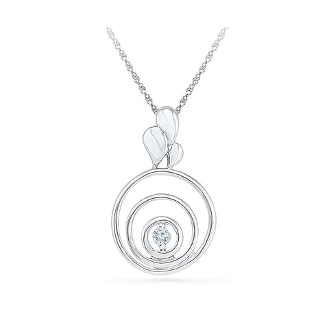 low cost one diamond circle pendant in 14k and 18k Gold online for women