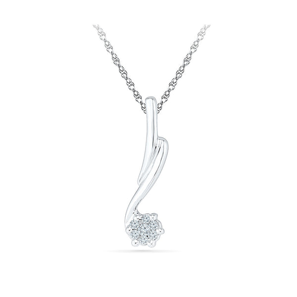 dainty fine flower diamond pendant in 14k and 18k Gold online for women