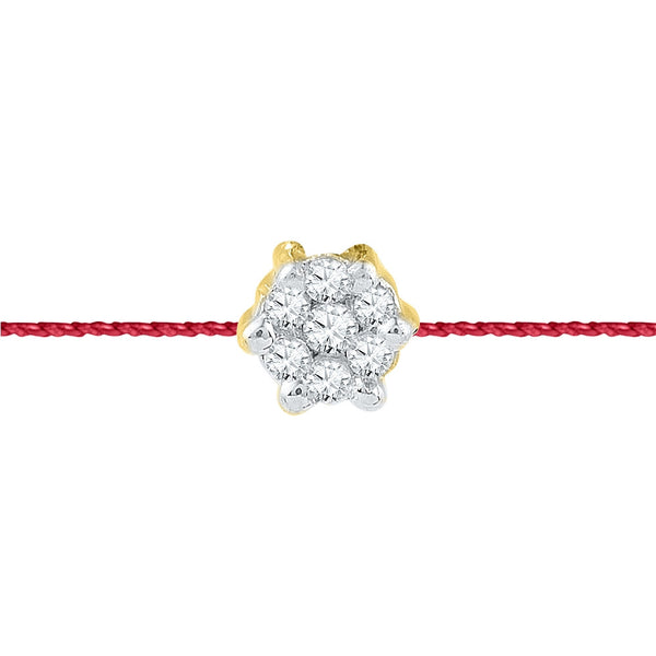 14/18 Carat Silver/White/Yellow Gold Designer Rakhi for your brother in Diamonds