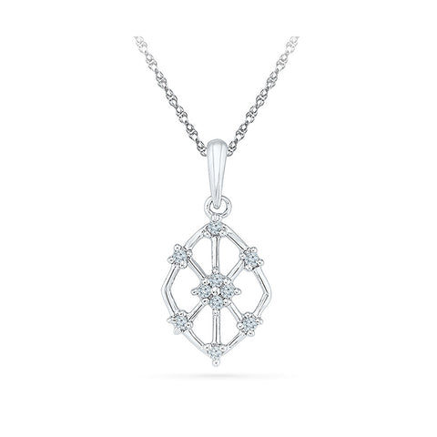 unique hollow design diamond pendant in 14k and 18k Gold online for women