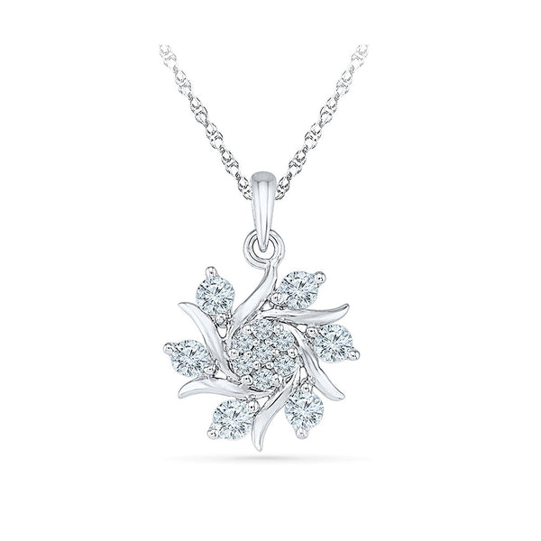 unique diamond studded sunflower pendant in 14k and 18k Gold online for women
