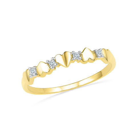 Best of Hearts Everyday Diamond Ring - Radiant Bay