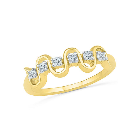14kt / 18kt white and yellow gold Floral Fusion Diamond Cocktail Ring in PAVE and PRONG for women online