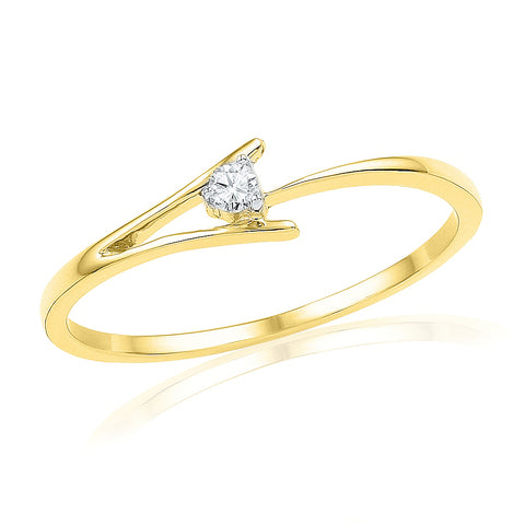 Crossover Shank Diamond Promise Ring