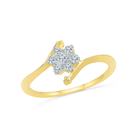 14k, 18k white and yellow gold Bloom Everyday Diamond Ring in PRONG setting for women online