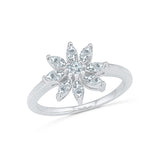14kt / 18kt white and yellow gold Blossom Everyday Diamond Ring in PRONG for women online