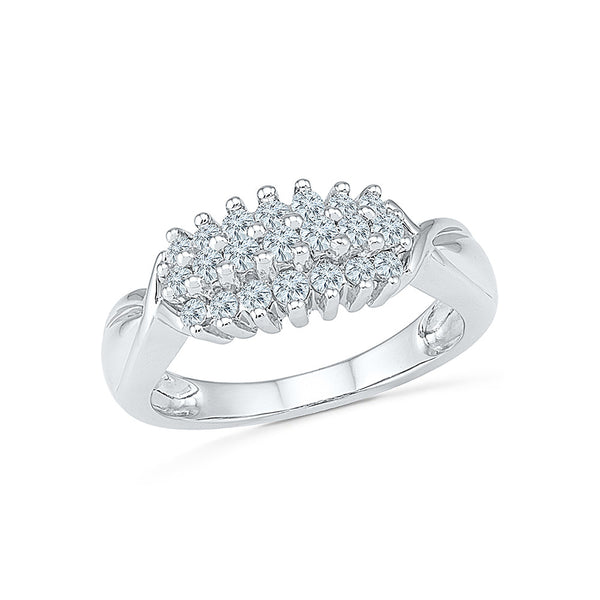 Winsome Diamond Cluster Cocktail Ring