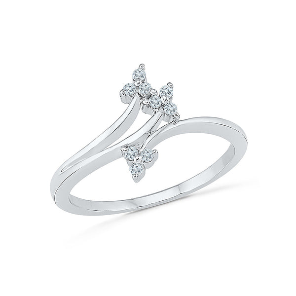 14k, 18k white and yellow gold Flourish Diamond Everyday Ring in PRONG setting for women online