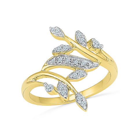 14k, 18k white and yellow gold À La Mode Diamond Cocktail Ring in PRONG setting for women online
