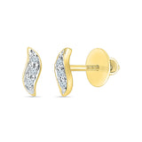 Curves of Joy Diamond Stud Earrings