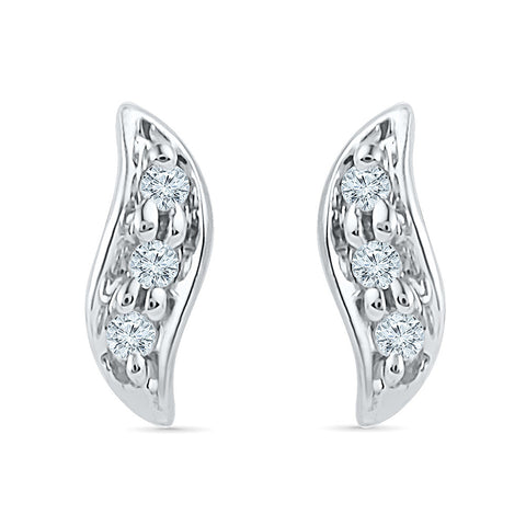 Curves of Joy Diamond Stud Earrings for kids in gold