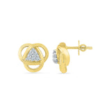 Tantalizing Triangle Diamond Stud Earrings