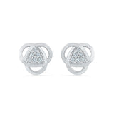 Tantalizing Triangle Diamond Stud Earrings in 14k and 18k gold for women online