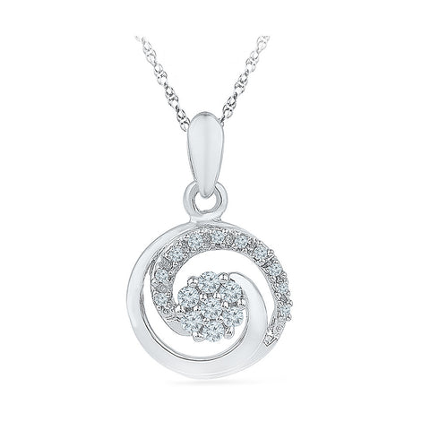 Circular Flutter Diamond Pendant in 14k and 18k Gold online for women