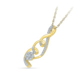 Flower Swirls Diamond Pendant