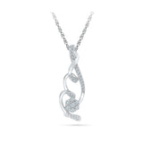 Flower Swirls Diamond Pendant in 14k and 18k Gold online for women