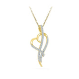 Heart Holder Diamond Pendant in 14k and 18k Gold online for women
