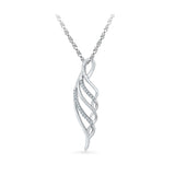 Swirl Spangle Diamond Pendant in 14k and 18k Gold online for women