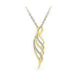 Swirl Spangle Diamond Pendant