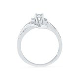 Striking Three Stone Diamond Engagement Ring