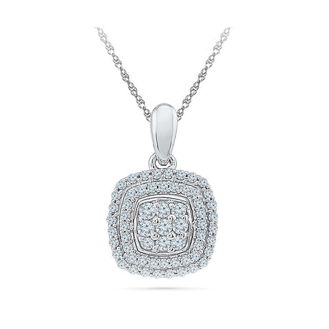 Luxuriously Studded Diamond Pendant in 14k and 18k Gold online for women