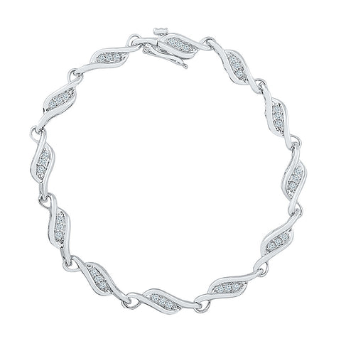 special occasion wear diamond bracelet  in white and yellow gold