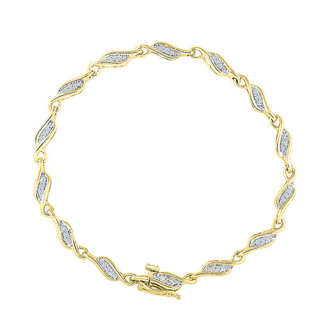 womens bracelet for weddings  in white and yellow gold