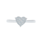 Precious Sole Heart Diamond Ring
