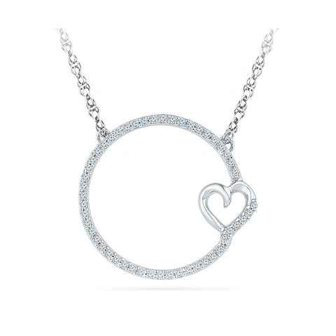 14k and 18k Gold Circle of Love Diamond Pendant in Prong setting online for women