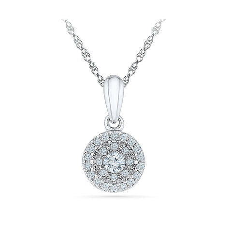 Aureole Diamond Pendant in 14k and 18k Gold online for women
