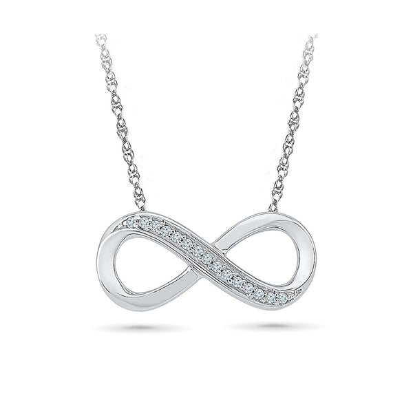 14k and 18k Gold Infinity Attractions Diamond Necklace in PRONG setting online for women